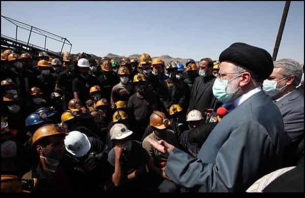 بازدید رییس جمهور از معادن زغال سنگ پروده طبس